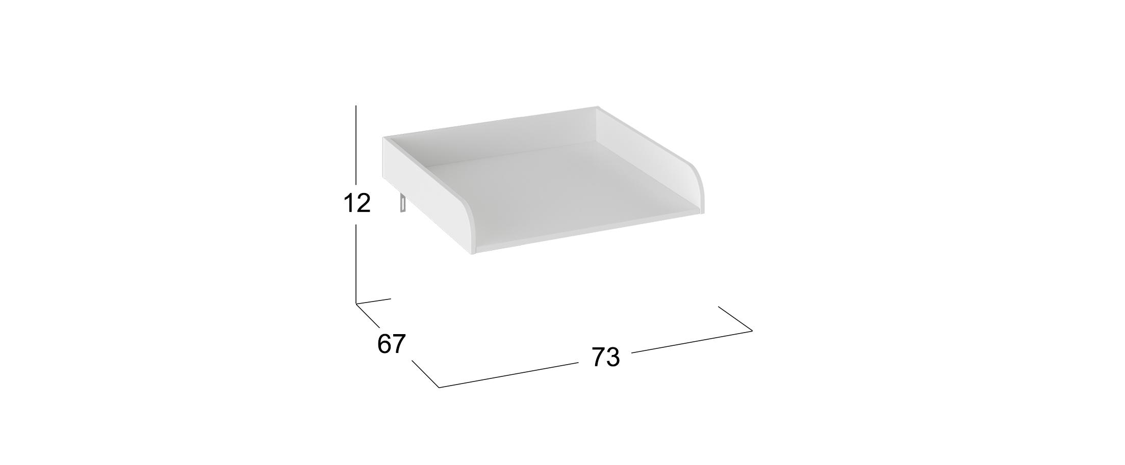 Пеленальный стол к комоду Тедди Модель 931