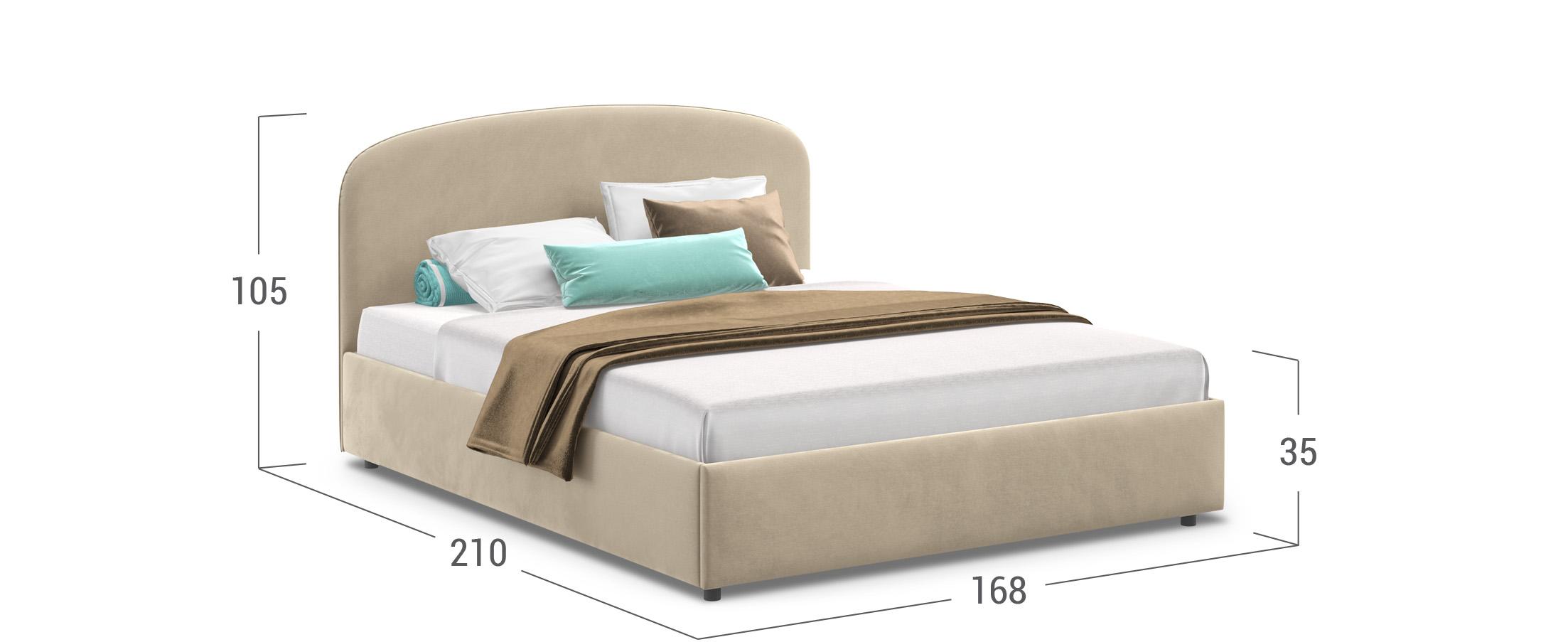Кровать двуспальная Лия 160х200 Модель 1205