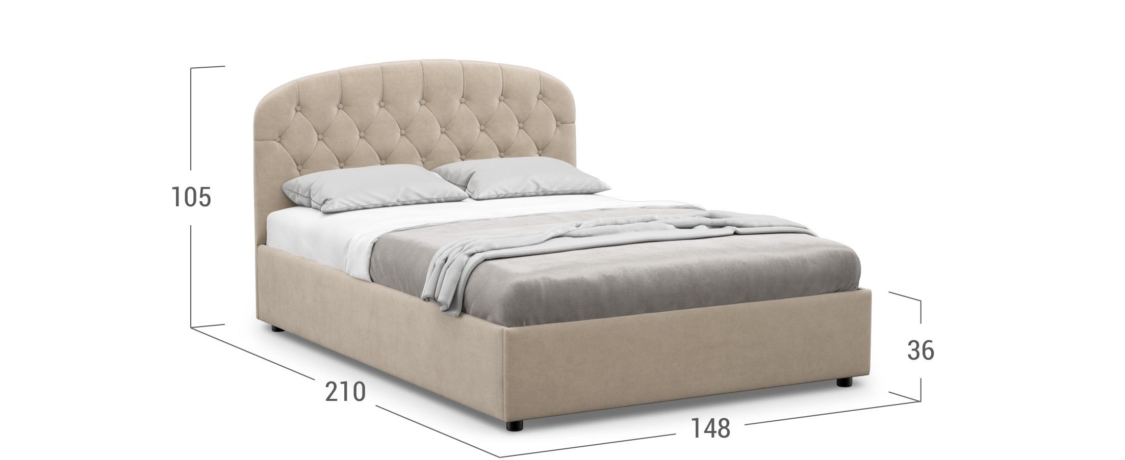 Кровать двуспальная Bianca New 140х200 Модель 1227