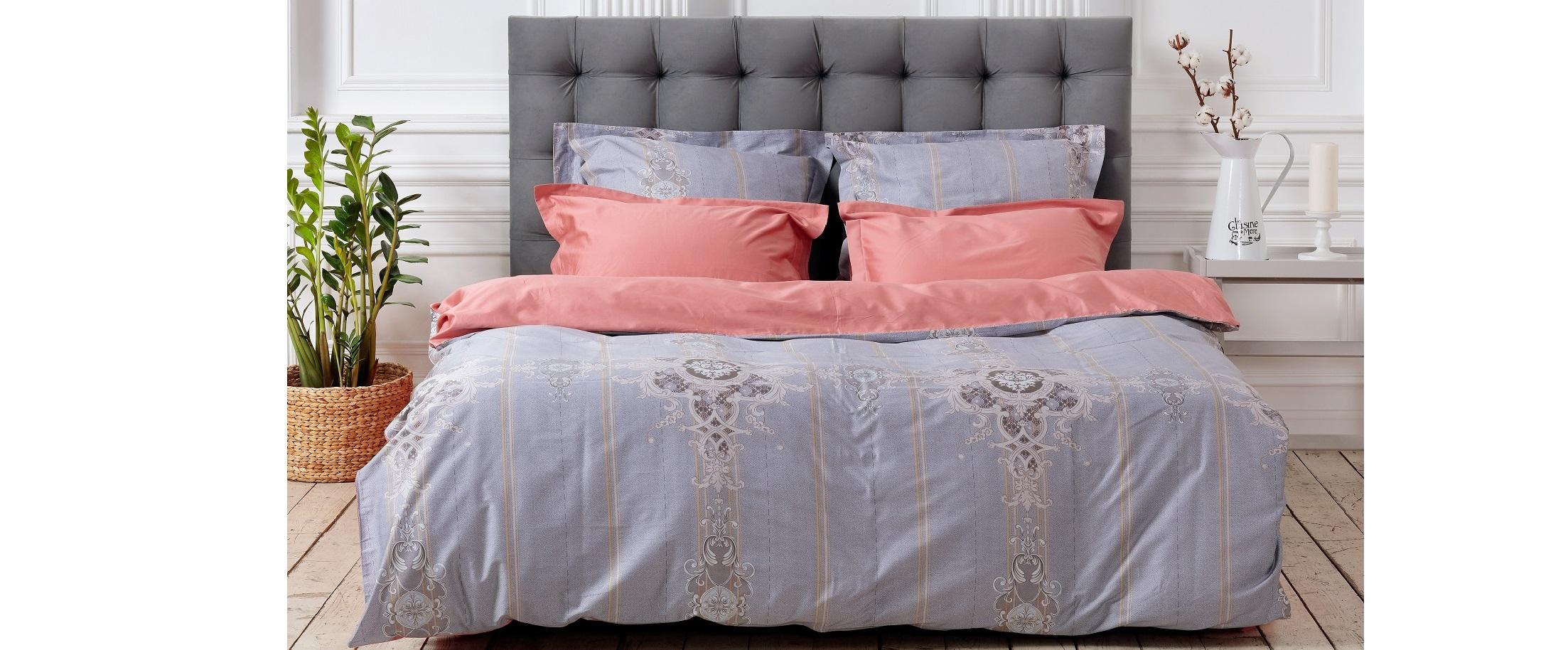 Комплект постельного белья Salerno B, Евро Макси, наволочки 50х70. Модель 4011